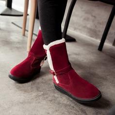 Frauen Veloursleder Flascher Absatz Flache Schuhe Stiefel Stiefelette mit Andere Schuhe (088139493)