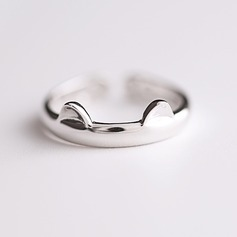 s925 Silver Unique Alloy Cat Ear Women's Fashion Rings Gaver (129140484)