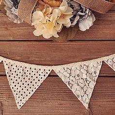 Triangolo Elegante Pizzo/Biancheria Decorazioni per Matrimonio (10 pezzi) (131163175)