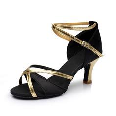 Donna Raso Similpelle Tacchi Sandalo Latino con Listino alla caviglia Scarpe da ballo (053053112)
