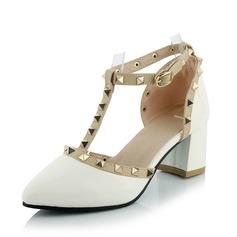 Donna Similpelle Tacco spesso Stiletto Punta chiusa scarpe (085092735)