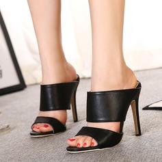 Vrouwen Kunstleer Stiletto Heel Sandalen Peep Toe Slingbacks schoenen (087112942)