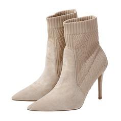 Frauen Stoff Stöckel Absatz Stiefel Geschlossene Zehe Absatzschuhe (047190318)