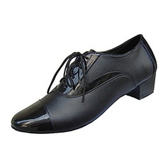 Men's Real Leather Fabric Heels Flats Latin Modern Ballroom Dance Shoes (053012955)