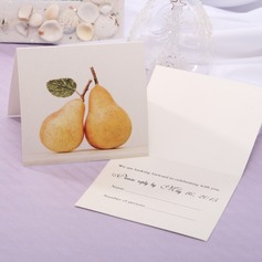 Personalized Modern Style Top Fold Response Cards (Set of 20) (114063914)