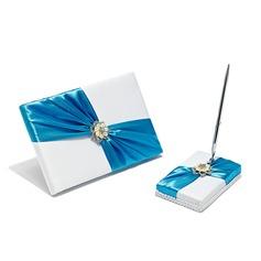Elegante Di faux perla/Strass Guestbook/Set di penne (101052722)