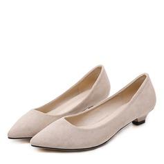 Donna Camoscio Tacco basso Stiletto Punta chiusa con Bowknot scarpe (085175373)