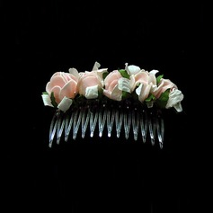 Lovely Foam Hair Combs Flowers (042025225)