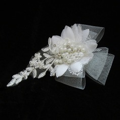 Glamour Pearl/Dentelle/Tulle Bandeaux (042025410)