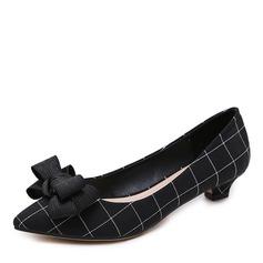 Donna Panno Tacco basso Stiletto Punta chiusa scarpe (085175372)