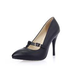 Naisten Keinonahasta Spool heel Avokkaat jossa Solki kengät (085102875)