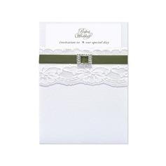 Classic Style Wrap & Pocket Invitation Cards (Sæt af 10) (118040277)