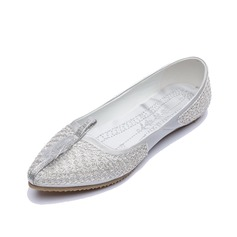 Leatherette Flat Heel Flats Closed Toe shoes (086056684)