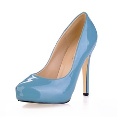 Women's Patent Leather Stiletto Heel Pumps Platform Closed Toe shoes (085020561)