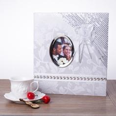 Braut und Bräutigam Hartfaserplatten Fotoalbum mit Pailletten (051041480)