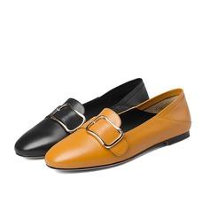 De mujer Piel Tacón plano Planos Salón con Hebilla zapatos (086116260)