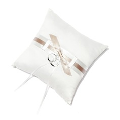 Pure Elegance Ring Pillow in Satin With Bow (103018499)