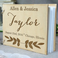 Personalized design Wood Guestbook (101198155)