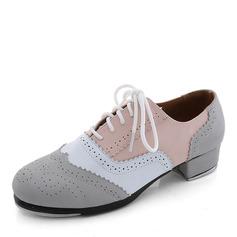 Unisex Microfaser-Leder Flache Schuhe Steppschuh Tanzschuhe (053087771)