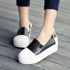 Vrouwen Kunstleer Wedge Heel Wedges met Gesplitste Stof schoenen (086119388)