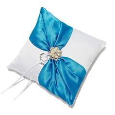 Elegante Anello Cuscino in Raso con Strass/Di faux perla (103052732)