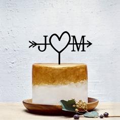 personnalisé Couple classique/Amour doux Acrylique Décoration pour gâteaux (119202092)