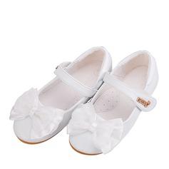 Ragazze Punta rotonda Punta chiusa Pelle microfibra Heel piatto Ballerine Scarpe Flower Girl con Bowknot Velcro (207165045)