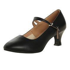 Donna Vera pelle Stiletto Scarpe Personaggio con Listino alla caviglia Scarpe da ballo (053113228)