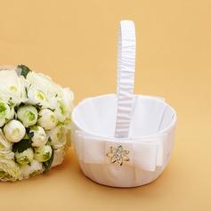 Elegante Cesto di fiori in Raso con Cristallo/Prua (102038619)