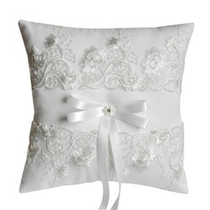 Elegant Ring Pillow in Satin With Bow (103190793)