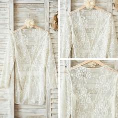 Lace Feminine Sleepwear/Sun-protective Clothing(041092937)