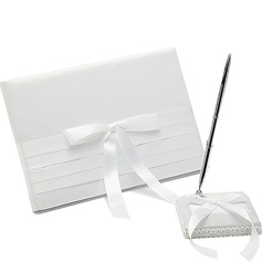 Pure Bow/Sash Guestbook & Pen Set (101018180)