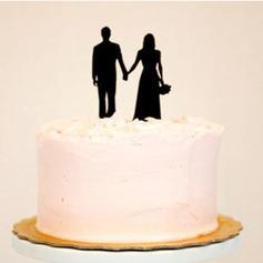 Coppia Classic Acrilico Matrimonio Decorazioni per torte/Nuziale Doccia Decorazioni per torte (119063245)