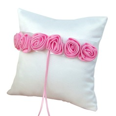 Elegant Rose Ring Pillow in Satin With Flowers (103190792)