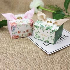 Bella/Nizza/Elegante Cubi Carta della carta Scatole di Favore con Nastri (set di 12) (050173187)