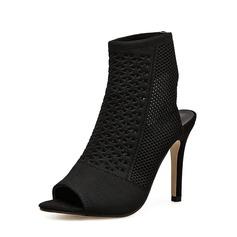Frauen Stoff Stöckel Absatz Absatzschuhe Stiefel Peep Toe Slingpumps Stiefelette mit Andere Schuhe (088151837)