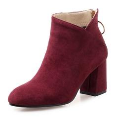 Frauen Veloursleder Stämmiger Absatz Absatzschuhe Stiefel Stiefelette mit Andere Schuhe (088172955)
