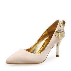 Femmes Soie Talon stiletto Escarpins avec Paillette Cristal (047146021)