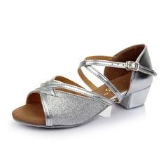 Per bambini Similpelle Glitter scintillanti Tacchi Sandalo Latino con Listino alla caviglia Scarpe da ballo (053053086)