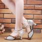 Femmes Similicuir Talons Latin avec Boucle Chaussures de danse (053102962)
