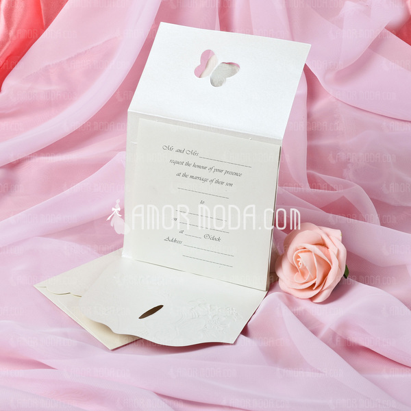 Butterfly Style Tri-Fold Invitation Cards (Set of 10) (114033284)