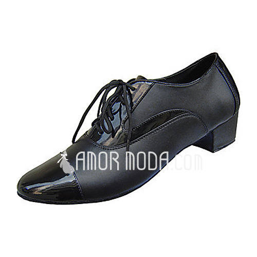 Men's Real Leather Heels Latin Belly Ballroom Practice Dance Shoes (053012955)