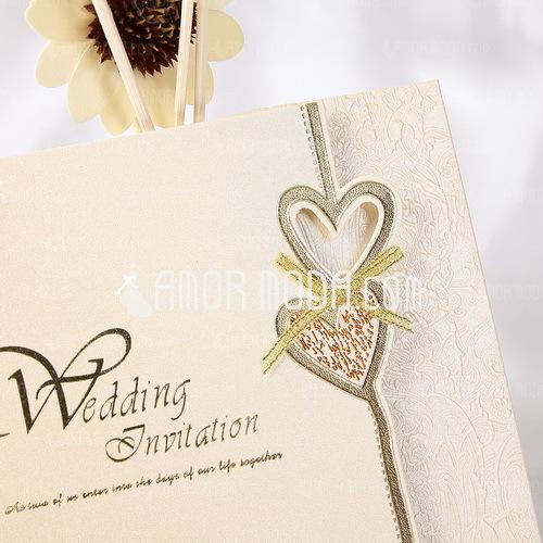 Heart Style Z-Fold Invitation Cards (Set of 50) (114032364)