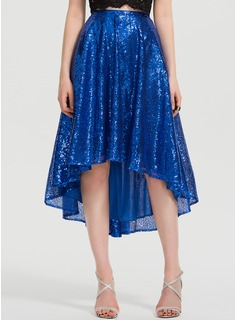 A-Line Asymmetrical Sequined Prom Dresses (018199629)
