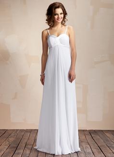 Empire Sweetheart Floor-Length Chiffon Wedding Dress With Ruffle (002011568)