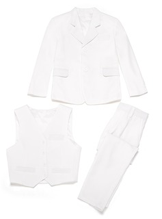 Boys 3 Pieces Solid Ring Bearer Suits /Page Boy Suits With Jacket Vest Pants (287199754)