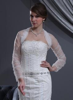 Длинный рукав Тюль Свадьба Обертывания (013022587)