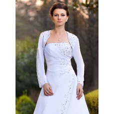 36e8bf2a98fd Lång ärm Chiffong bröllop Bolerojackor (013024368) - AmorModa
