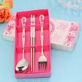 Flower Design Stainless Steel Cutlery set (051026888)