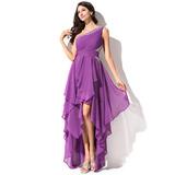 A-Line One-Shoulder Asymmetrical Chiffon Homecoming Dress (022051523)